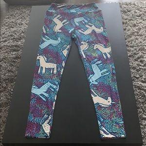 LuLaRo unicorn leggings, One size, NWOT